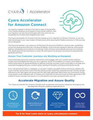 Accelerator for Amazon Connect Datasheet