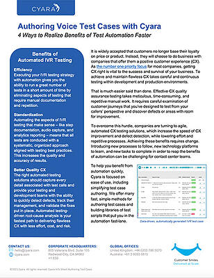 Datasheet-Authoring Voice Test Cases